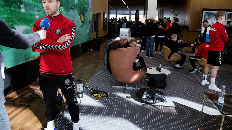 Christian Eriksen er klar til at skifte til en af fodboldens helt store adresser, mener landstræner Åge Hareide. Foto: Scanpix/Liselotte Sabroe