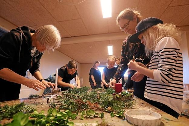 Der var mulighed for at kreere egne dekorationer. Foto: Allan Mortensen Allan Mortensen