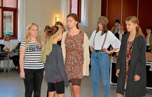 25 børn deltager i stykket, der har premiere på Kulturstationen i Skørping fredag den 23. november. Foto: Jesper Bøss Jesper Bøss