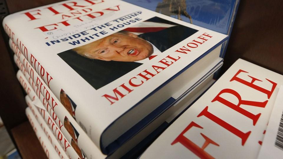 Hundredvis i Danmark har valgt at forudbestille en omstridt bog (billede) om den amerikanske præsident, Donald Trump. /ritzau/AP/Steve Helber/arkiv
