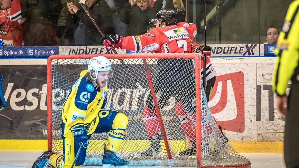 Aalborg Pirates er nu foran 2-1 i serien mod Esbjerg Energy.  Foto: Martin Damgård