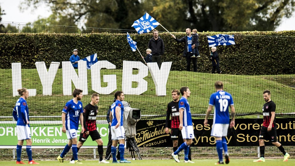Lyngby Boldklub kæmper fortsat for en redning. Foto: Scanpix/Ólafur Steinar Gestsson