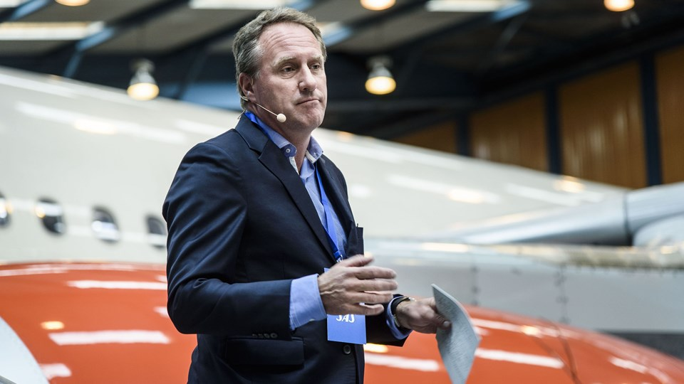 Lars Sandahl Sørensen fortæller, at SAS prøver at gøre sine omkostninger så fleksible som muligt. Foto: Scanpix/Niels Ahlmann Olesen