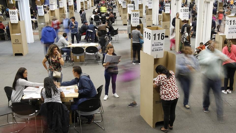 Farc var på stemmesedlen for første gang ved søndagens valg i Colombia. Foto: Scanpix/Fernando Vergara