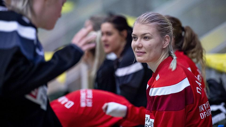 Kathrine Heindahl er en af tre stregspillere i den danske landsholdstrup, der åbner EM mod Sverige fredag aften.