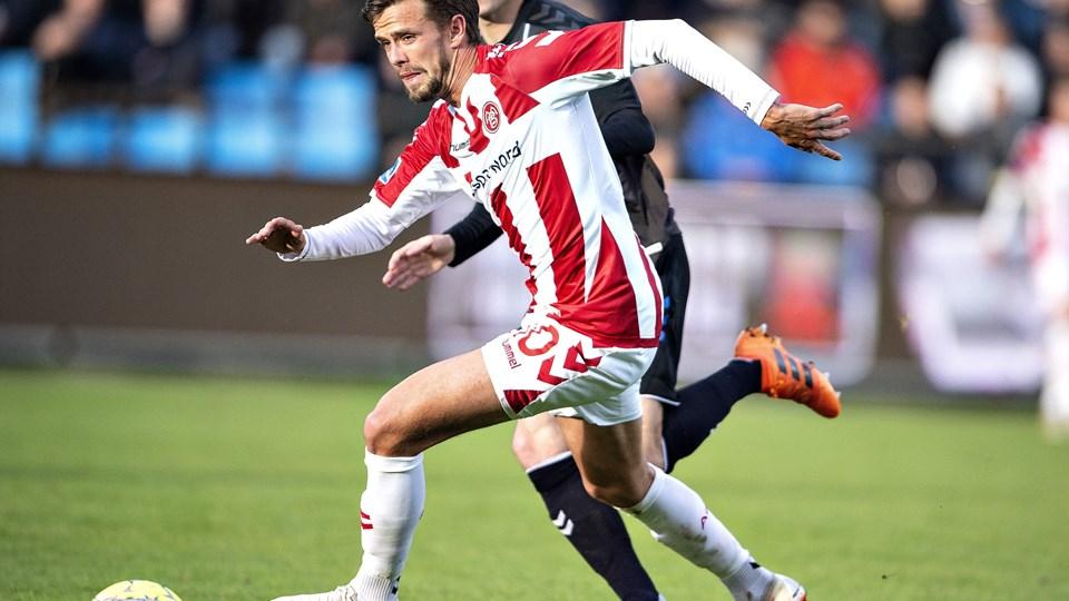 Lucas Andersen og AaB tabte hjemme 0-1 i Superligaen søndag til OB. Foto: Henning Bagger/Ritzau Scanpix