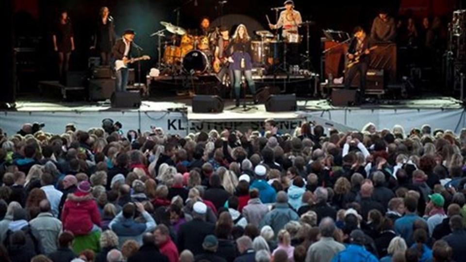 Den store festival-koncert kostede godt 800.000 kr. og var med til at trække økonomien ned under den røde bundlinje. Foto: Martin Damgård