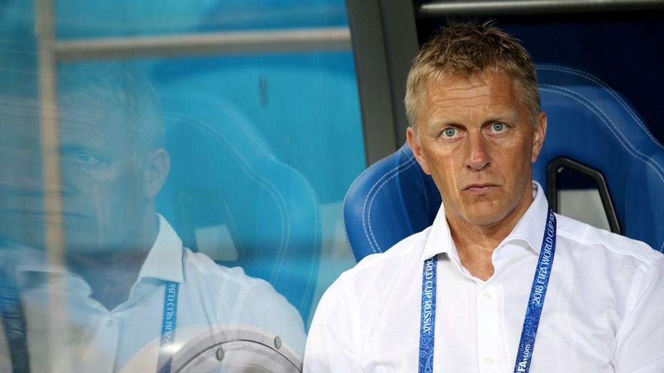 Islands tidligere landstræner Heimir Hallgrímsson har været en del af det islandske landshold i syv år. Foto: Marko Djurica/Reuters