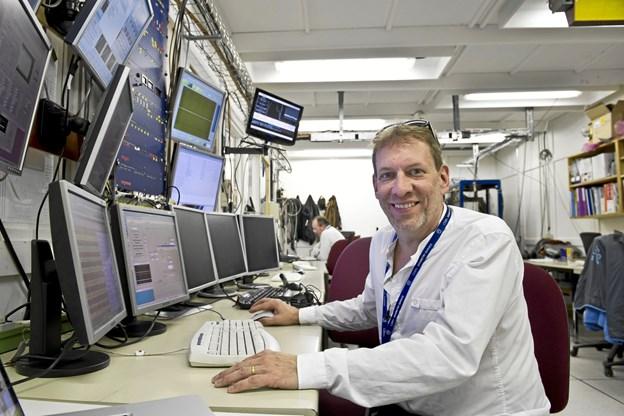 Forelæser er professor i fysik Jeffrey S. Hangst, Institut for Fysik og Astronomi, Aarhus Universitet. Foto: Aarhus Universitet