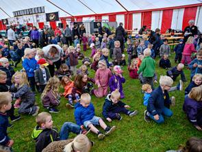 Børn på Hjallerup Marked
