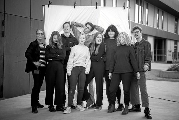 Vendsyssels Teaters talenthold holder auditions for unge med interesse for skuespil 2. september. Her ses et af de tidligere talenthold. Arkivfoto: Vendsyssel Teater/Tao Lytzen