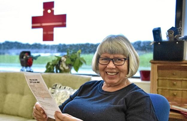 """Betty Andersen er ny leder af besøgstjenesten i Hanstholm. Nu håber hun at mange vil melde sig som besøgsven i """" det gamle Hanstholm-kommune område"""" Foto: Ole Iversen"""