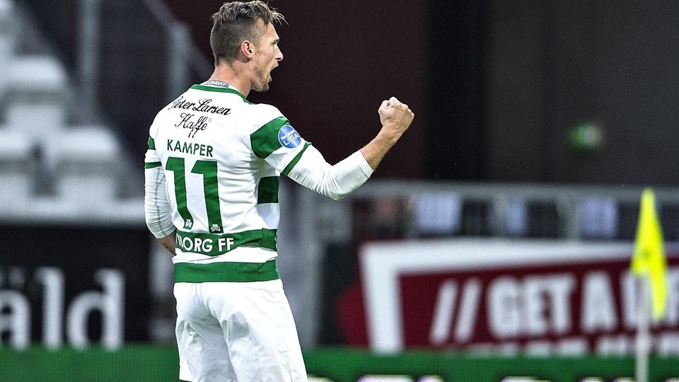 Jonas Kamper har spillet en enkelt kamp for det danske A-landshold. Foto: Scanpix/Henning Bagger/arkiv
