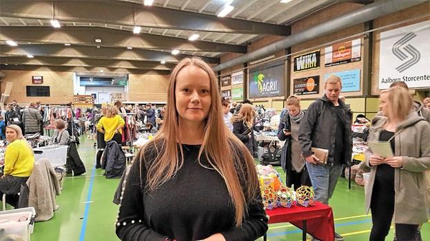 Camilla Oxvig er arrangør af bazaren. Foto: Camilla Oxvig