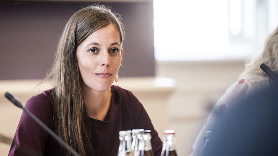 Børne- og socialminister Mai Mercado (K) sidder for bordenden i nogle lange forhandlinger om at sikre et skilsmissesystem, hvor børnene ikke kommer i klemme. Foto: Scanpix/Sarah Christine Nørgaard/arkiv
