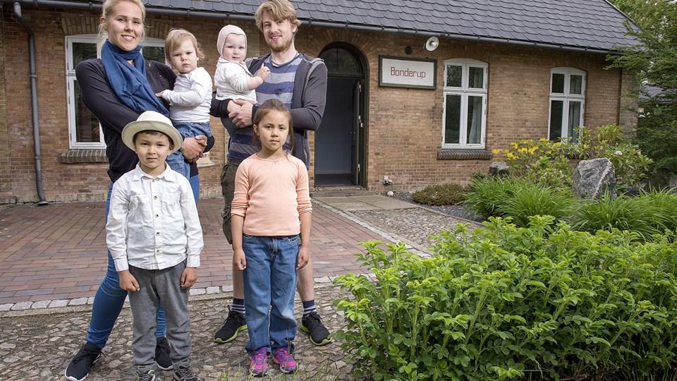Familien fra Amager nåede kun at bo i Bonderup i få uger, inden de på grund af personlige årsager flyttede tilbage til storbyen i starten af juli.  Arkivfoto: Lars Pauli