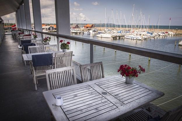 Fra Restaurant Frank's er der udsigt over havnen i Sæby. Arkivfoto: Kim Dahl Hansen