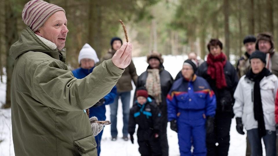 Naturvejleder Bo Storm er en engageret fortæller. Måske har han også en teori om isbjørne og mammutter. Arkivfoto: Peter Broen