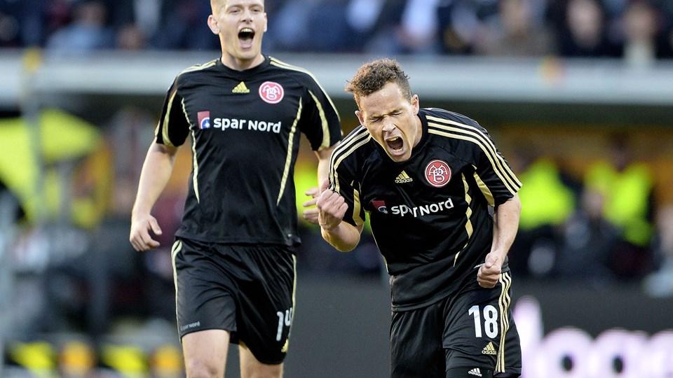 To gange lynede Anders K. Jacobsen mod FCN. Foto: Torben Hansen