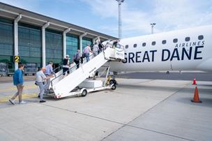 Great Dane sætter Dublin, Edinburgh og Nice på pause