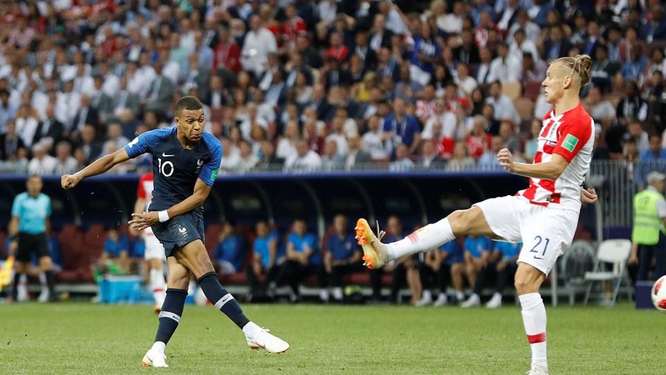 Kylian Mbappe har fået sit internationale gennembrud under VM-slutrunden. I VM-finalen scorede den 19-årige angriber til 4-1, da Frankrig besejrede Kroatien 4-2. Foto: Darren Staples/Reuters