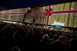 Rekordmange så Sallings julebelysning blive tændt