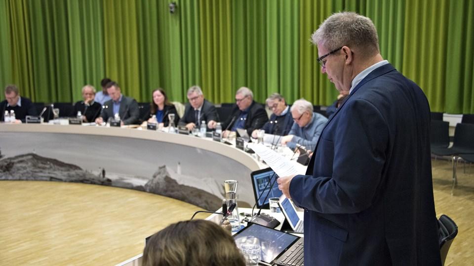 Borgmester Arne Boelt (S) indkalder smal gruppe til forhandlinger om budget. Arkivfoto: Kurt Bering