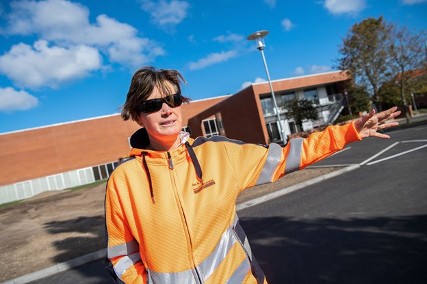 Bilerne skal køre ind fra Parallelvej og ud på Rådhus Allé Foto: Henrik Bo