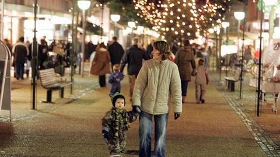 Hjørring Kommunen spenderer i år 500.000 kr. til juletræer til 50 byer i kommunen. Hjørring får det største. Arkivfoto