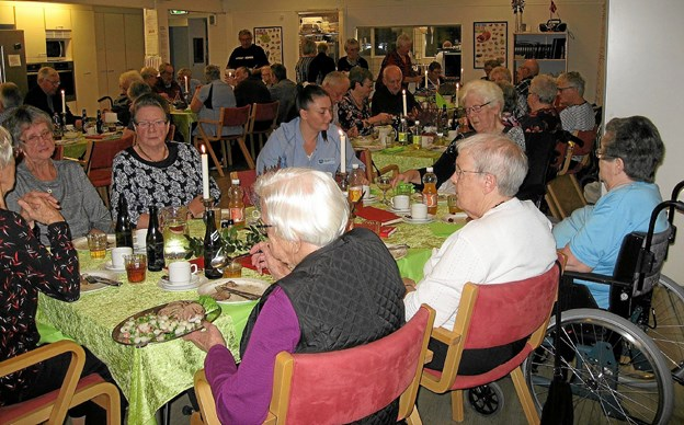 Rigtig flot tilslutning til spis sammen aften på Kærbo i Ranum. Privatfoto