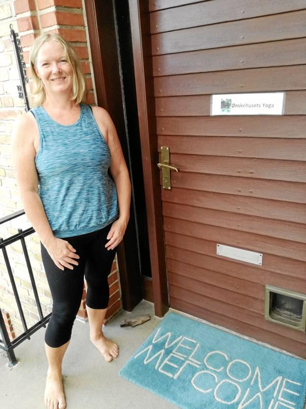 Helle Høgh-Mogensen ser frem til 5. august, hvor Ønskehusets Yoga starter. Privatfoto