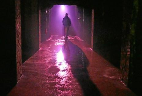 Et væltet lokum i Søndermarken: Se kunst i en underjordisk cisterne