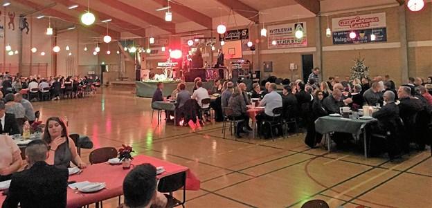 Skørping Idrætscenter dannede rammen om lørdagens fest. Foto: Privat