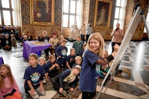 Historiedysten udspiller sig i smukke rammer på Frederiksborg Slot. Foto: Mew/Det Nationalhistoriske Museum