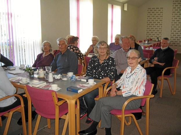 52 seniorer var mødt op til foredraget. Privatfoto