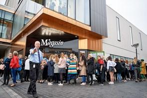 Kunderne strømmede til: 73.000 besøgte Magasin i åbningsweekenden