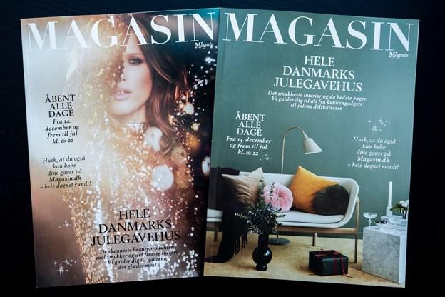 De to julemagasiner kan både hentes i stormagasinet og læses på Magasins hjemmeside.