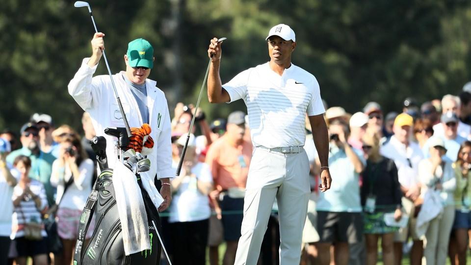 Tiger Woods bliver nævnt blandt favoritterne til at vinde majorturneringen US Masters, selv om han ikke har deltaget ved en major siden 2015. Scanpix/Jamie Squire