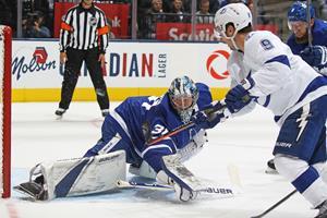 Frederik Andersen blev skudt i sænk og skiftet ud i NHL