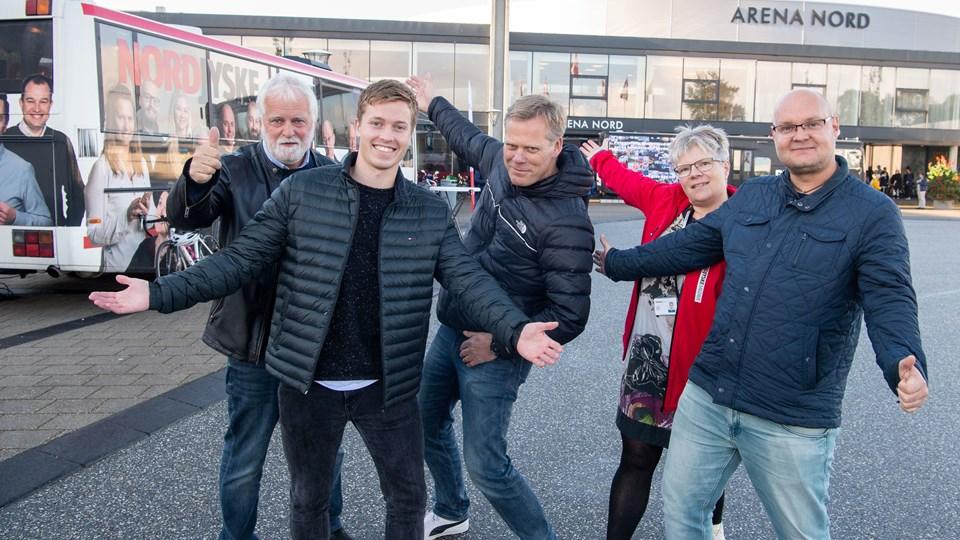 Fra venstre: Hans Christensen, Mikkel Færgemann Viken, Lars Hofmeister, Dorthe Nielsen og Jakob Frey Ahrentzen er klar til at tage imod.Foto: Kim Dahl Hansen