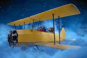 Kaptajn Bimse tager vennerne med og flyver på eventyrrejse