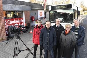 NORDJYSKE Bussen er parkeret i Øster Hornum - kig forbi