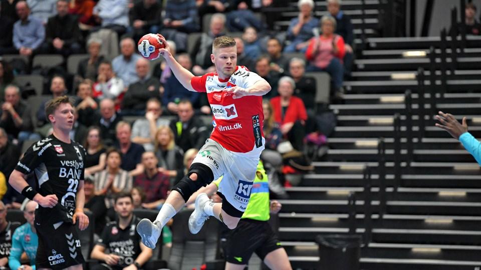 Sebastian Barthold og holdkammeraterne fra Aalborg Håndbold fik en overkommelig opgave i pokalturneringen.