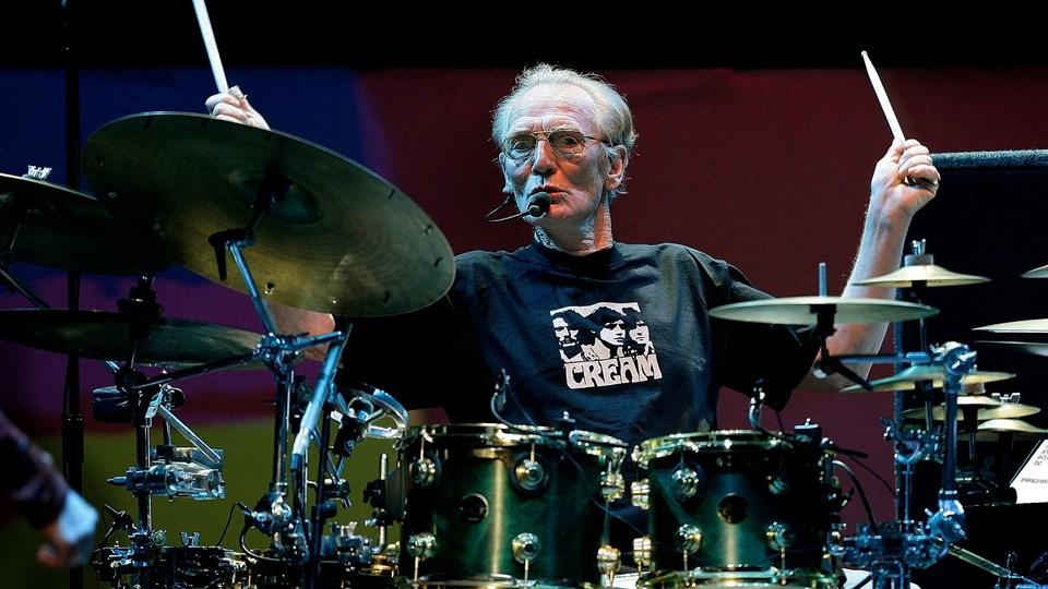 Trommeslager Ginger Baker er død - han blev 80 år. (Arkivfoto)