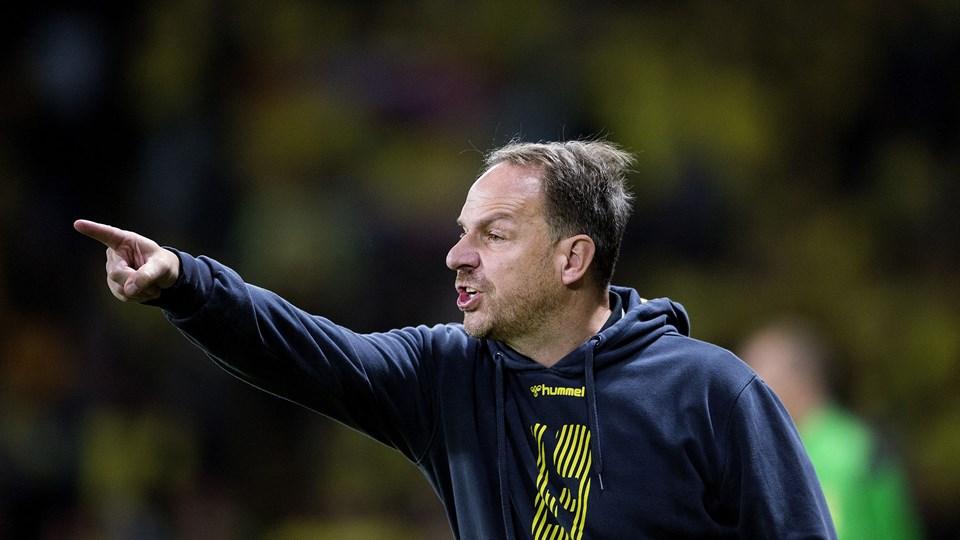 Brøndby-træner Alexander Zorniger mener ikke, at penge bør få landsholdsspillere til at afvise at stille op for Danmark. Foto: Liselotte Sabroe/Ritzau Scanpix