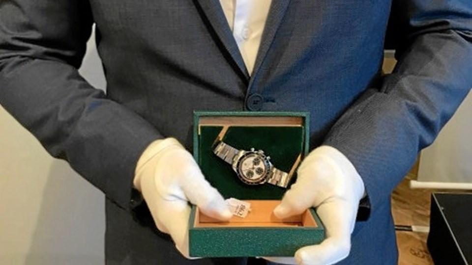 Det fornemme Rolex-ur blev solgt på auktion for svimlende 1,7 mio. kr. Det er ny rekord i Danmark. Foto: Bruun Rasmussen