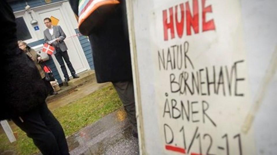 Torsdag formiddag åbnede den ny private børnehave i Hune. Foto: Martin Damgård