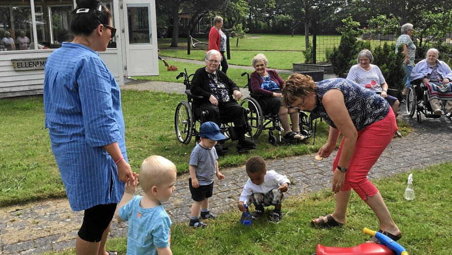 Dagplejebørn besøgte Solgården