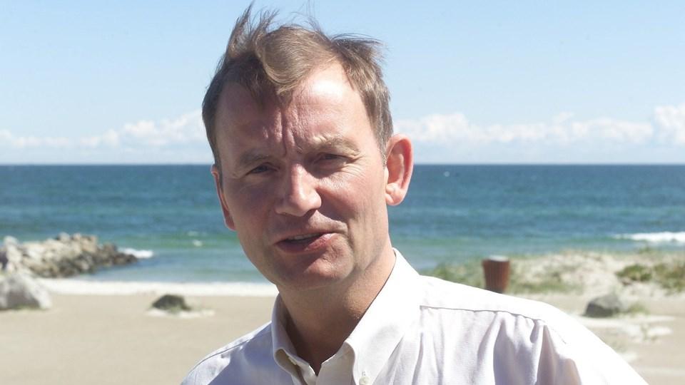 Centerleder Tommy Thomsen fremlagde årsregnskabet der udviste et overskud på kr. 10.948,- Arkivfoto: Bent Jakobsen.