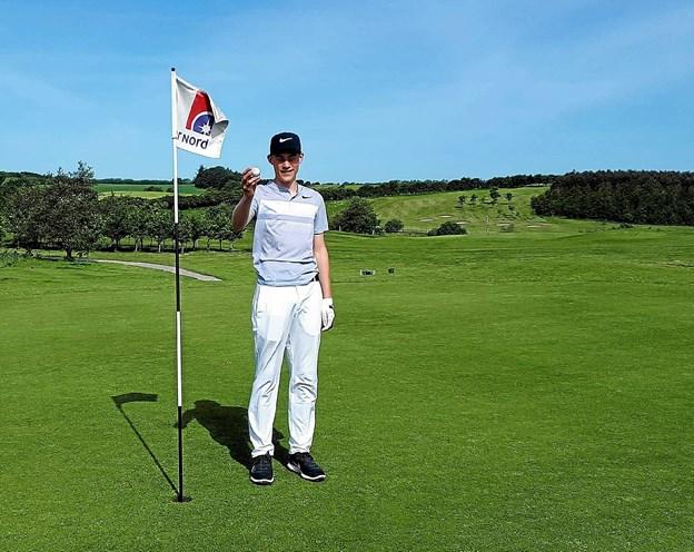 Jannik Buchholz Nielsen, Junior golfer i Løgstør Golf Klub. Privatfoto: Løgstør Golfklub
